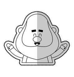 happy chubby man cartoon icon image vector image