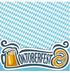 background poster for oktoberfest vector image