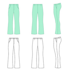 Flare man pants vector