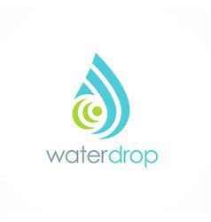Water drop shape tecnology logo vector