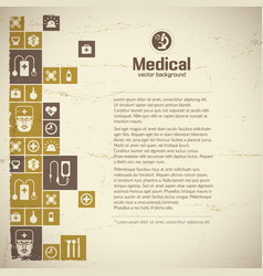 Medical help and treatment background vector