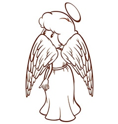 A plain sketch of an angel vector