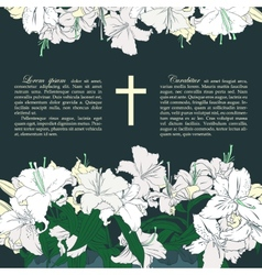 funeral card vector image