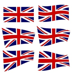 Set of british flags vector