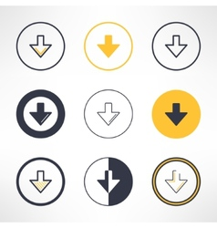 Download icons set in different design clean and vector