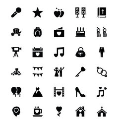 Wedding icons 3 vector