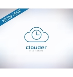 Cloud icon logo store app or developers vector