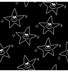 Funny sketching star seamless pattern baby star vector