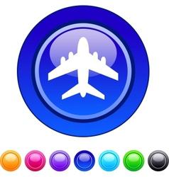 Aircraft circle button vector image
