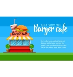 Fast food cafe flyer or banner vector image