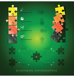 Modern jigsaw puzzle business infographic vector