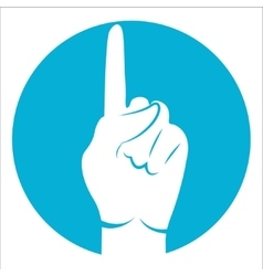 one finger icon vector image