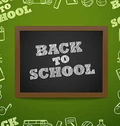 Back to scholl concept education elements clip-art vector