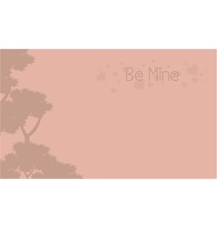 Be mine landscape with tree vector