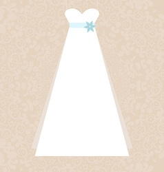 Bridal dress vector