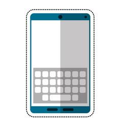 Cartoon smartphone keypad display icon vector