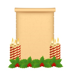 Christmas parchment vector image vector image