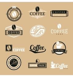 Coffee labels logo vector