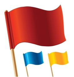 colorful flags vector image vector image