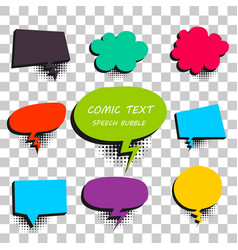 comic colored text speech bubble 9 vector image vector image