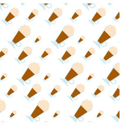 Delicious cold coffee background vector