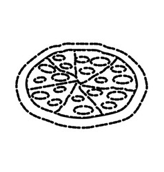 Delicious pizza fast food vector