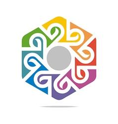 Design go green garden plants circle icon vector