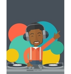 Dj with console vector