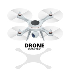 Drone isometric drone eps drone quadrocopter 3d vector