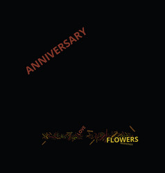Fresh flowers and anniversary flowers text vector