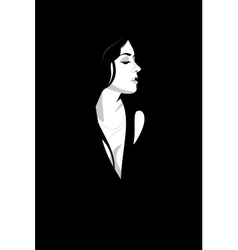Girl in the black vector