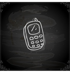 Hand Drawn Cellphone vector image vector image