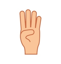 Hand gesture icon image vector