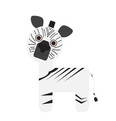 isolated cute zebra vector image vector image
