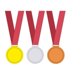 Medal set in flat style vector image vector image