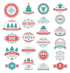 Merry Christmas and Happy Holidays Wishes vector image vector image
