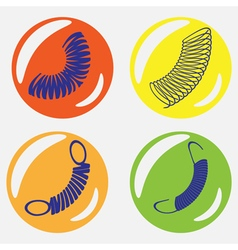 Mobochrome icon set with springs vector