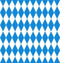 Oktoberfest background Bavarian flag pattern vector image vector image