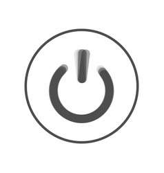 On off switch sign gray icon shaked at vector