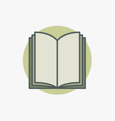 open book colored icon vector image vector image