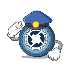 Police 0x coin character cartoon vector