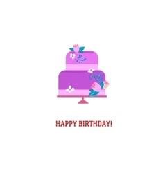 Purple Birthday cake vector image vector image