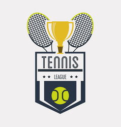 Racket and trophy of tennis sport design vector
