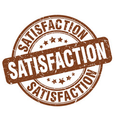 Satisfaction brown grunge stamp vector