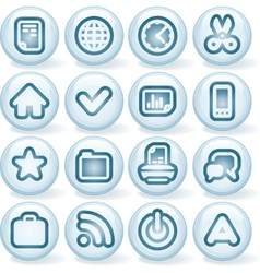 Shiny buttons 1 vector