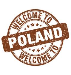 Welcome to poland vector