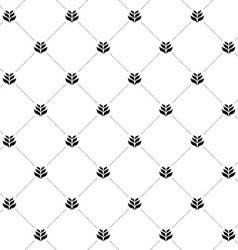 Wheat seamless cross pattern Simple black and vector image vector image