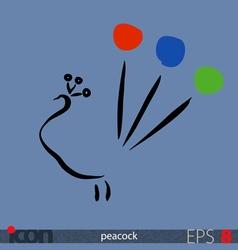Peacock icon vector