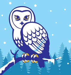 Owl in the winter season vector