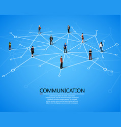 connecting people social network concept vector image